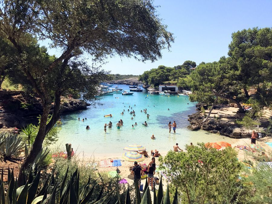 Pese a ser una casita pequeña y que se llena rápidamente de gente, Cala Mitjana es una de las mejores playas y calas de Mallorca