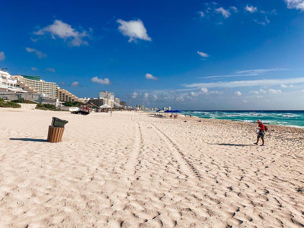 Una de las playas públicas de Cancún