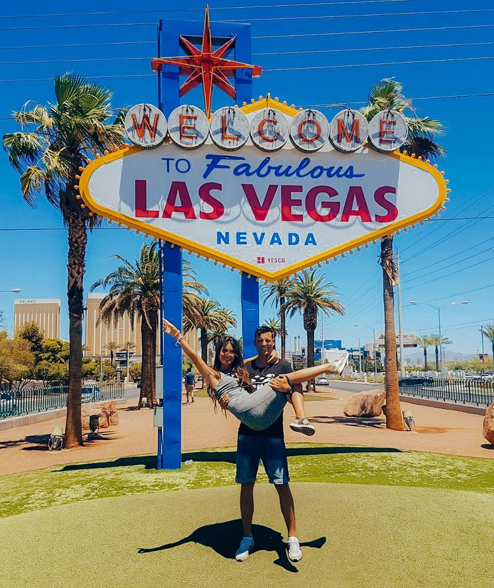 El famoso cartel de la entrada a Las Vegas