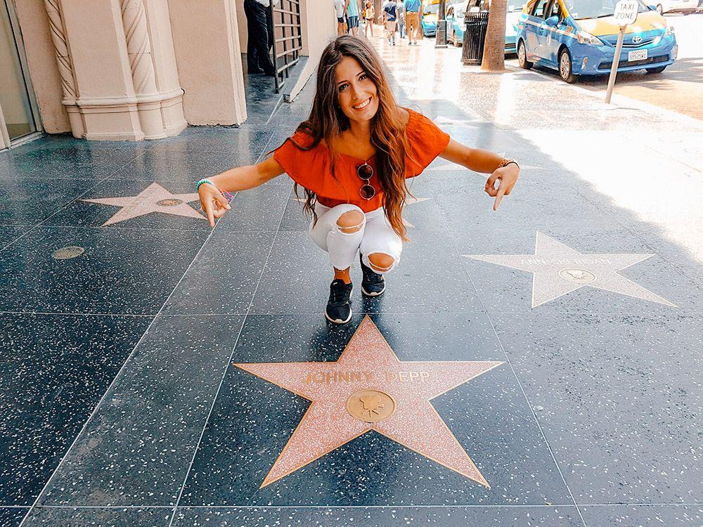 Estrella de Johnny Depp en el paseo de la fama en Los Angeles