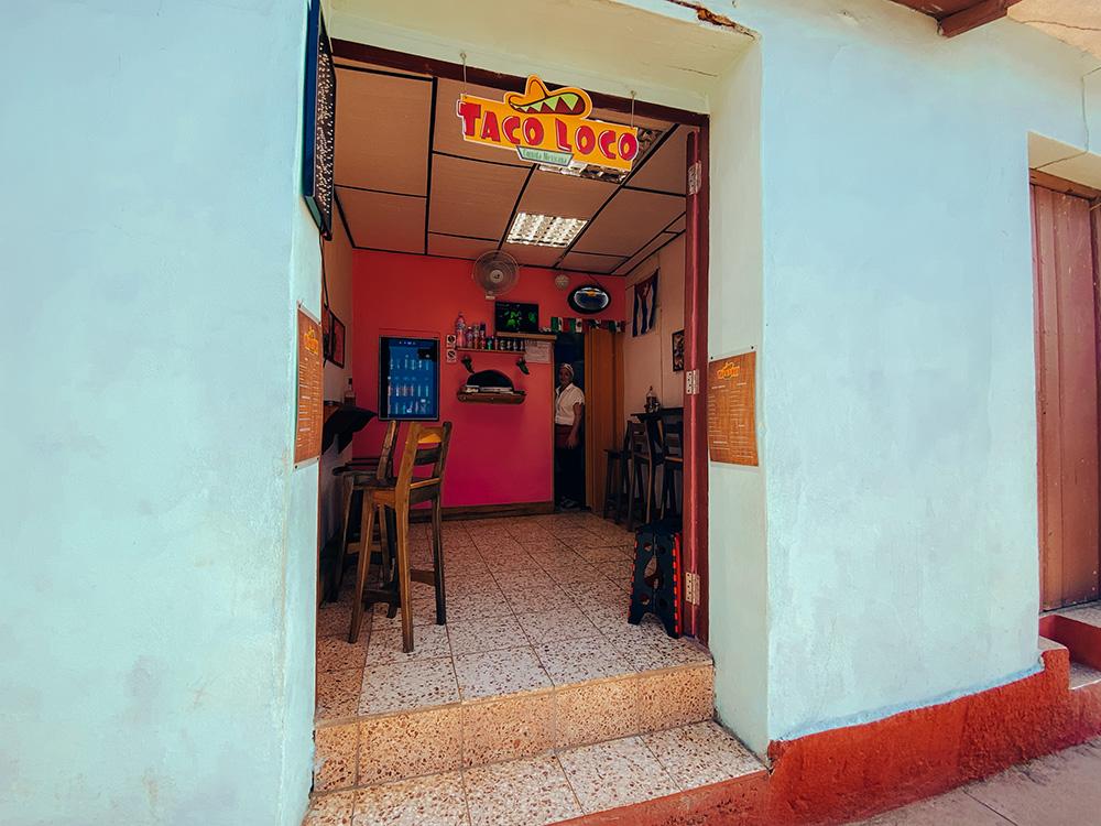 Entrada del restaurante el Taco Loco