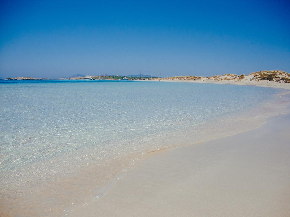 Playa de S'Alga, en la isla de Espalmador