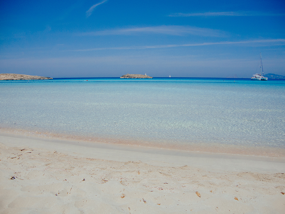 Playa de Ses Illetes, la más famosa de Formentera