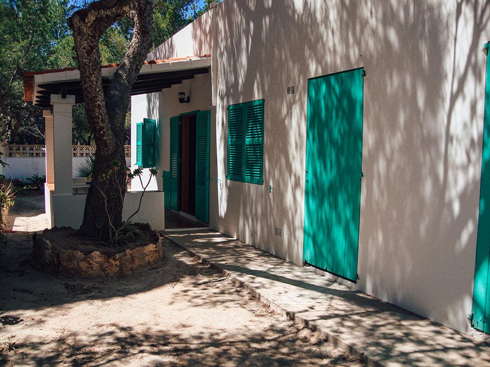 Nuestro alojamiento en Formentera la primera vez que fuimos a la isla