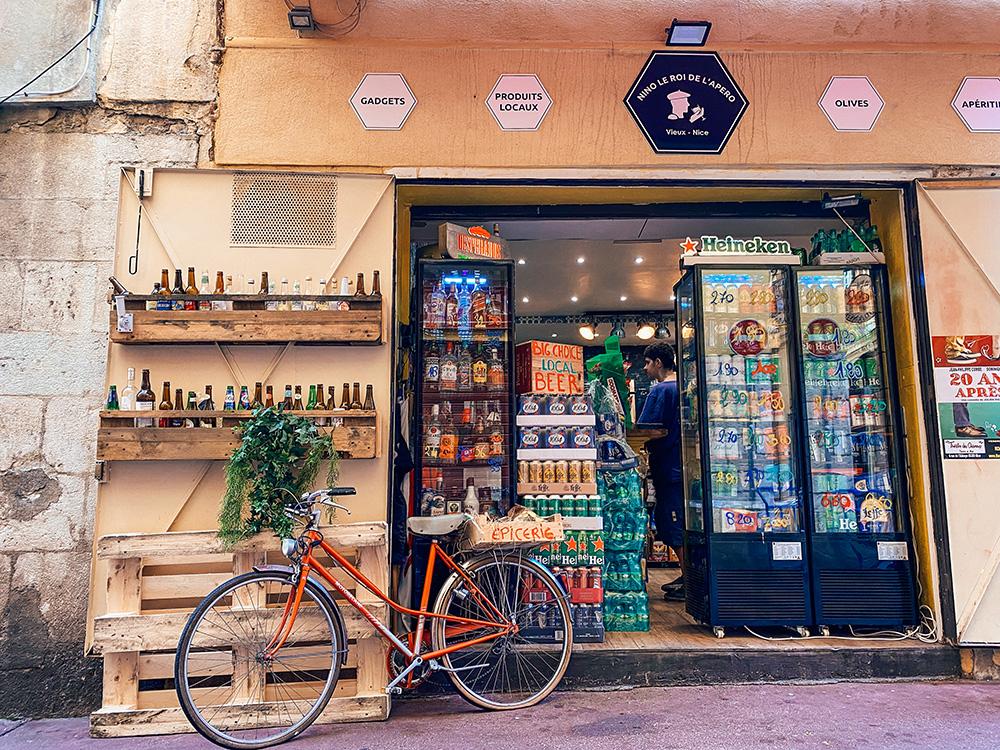 Tienda del casco antiguo de Niza