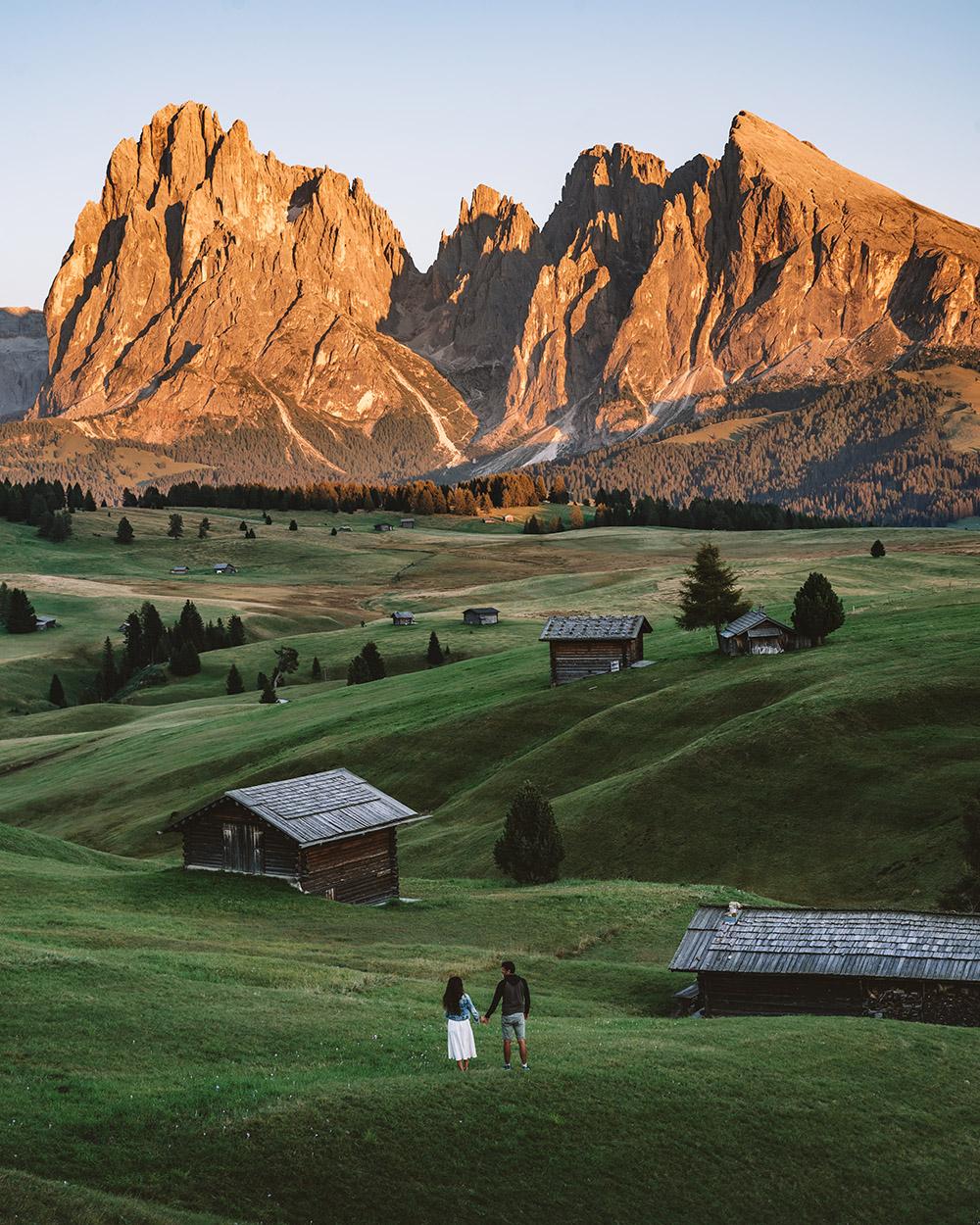 Ver un atardecer en Alpi di Susi es otro de los 10 imprescindibles que ver en Dolomitas