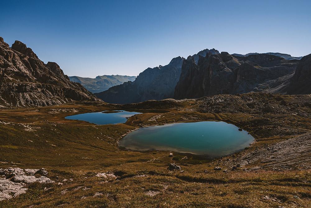 Muy cerca del refugio Locatelli se encuentran los bonitos lagos dei Piani