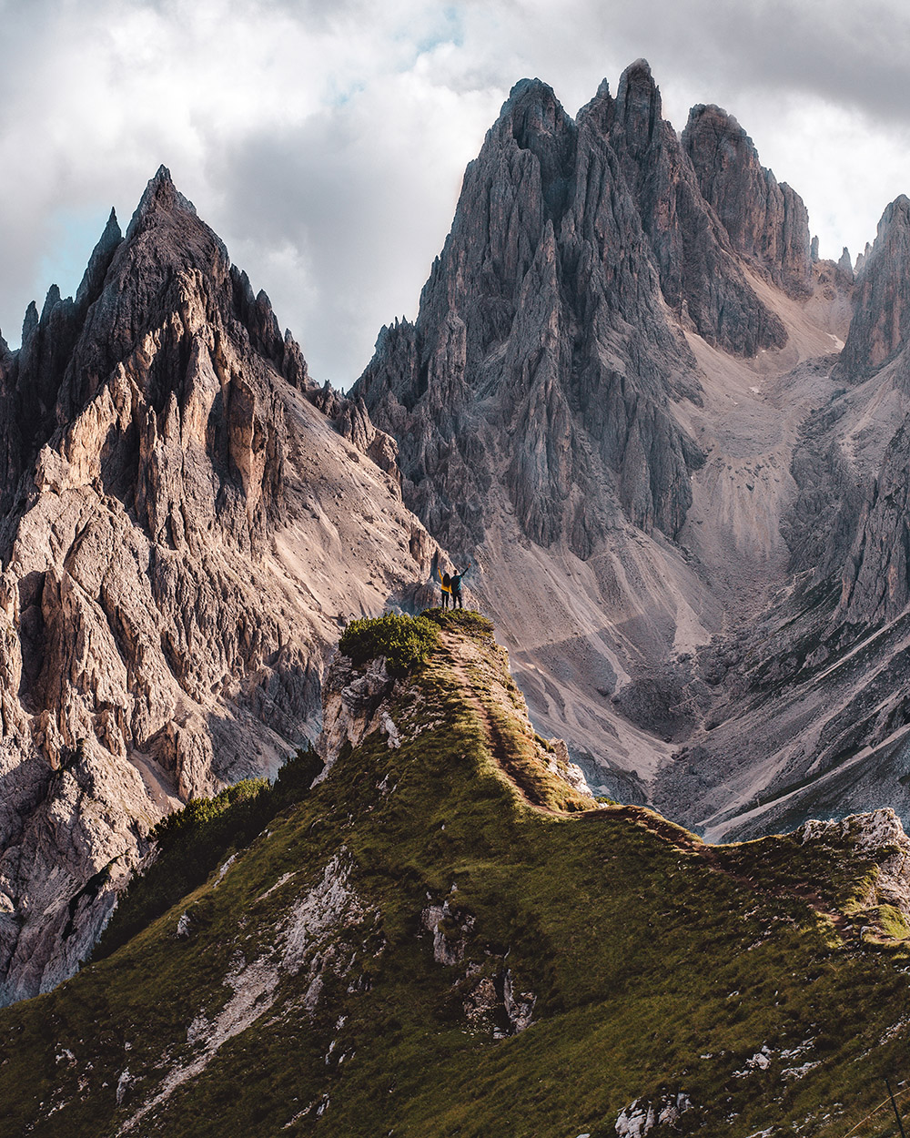 Uno de los lugares más bonitos de Dolomitas es este bonito mirador