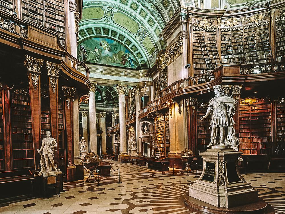 La Biblioteca nacional de Viena es uno de los lugares más visitados de la ciudad
