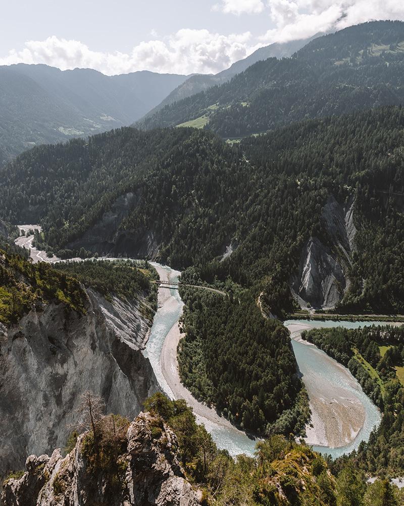 Flims es una zona de Suiza con varios lugares de interesante visita