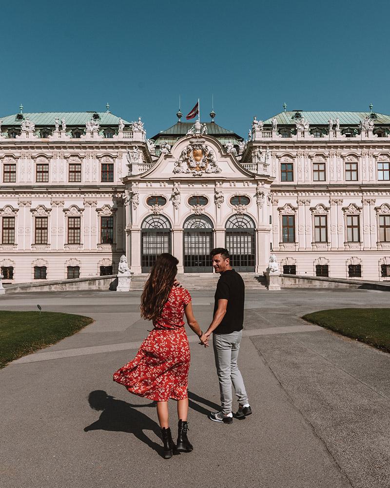 El Palacio Belvedere es uno de los imprescindibles que visitar en Viena